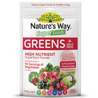SIÊU THỰC PHẨM XANH Nature's Way Super Greens Wild Reds Superfood Powder 100g